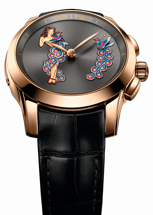 Ulysse Nardin Hourstriker Pin-Up oro rosa