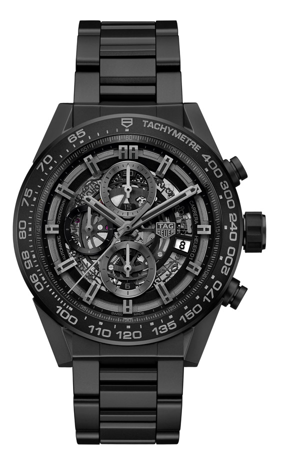 Cronógrafo TAG Heuer Carrera Heuer-01 Full Black CAR2A91.BH0742-2016