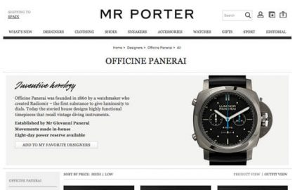 Officine Panerai en MR PORTER