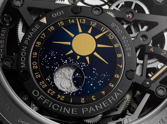 Panerai L'Astronomo Luminor 1950Tourbillon Moon Phases Equation of Time GMT 50mm